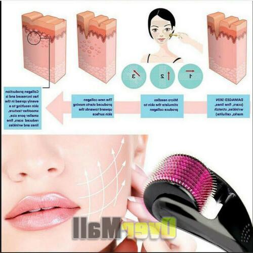 540 Microneedle Micro Needle Derma Roller Scar Wrinkles Stretch