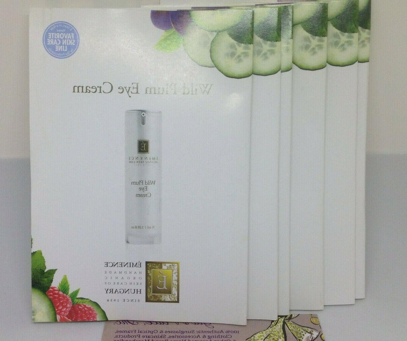 6  PIECES EMINENCE WILD PLUM EYE CREAM SAMPLE PACKS ORGANIC