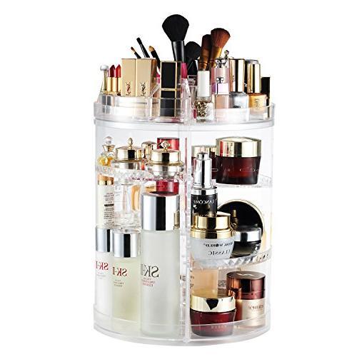 AMEITECH Makeup Organizer, 360 Degree Rotating Adjustable Co