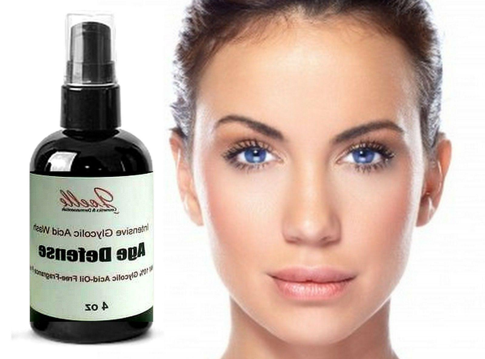 Glycolic Acid Face Wash 100% Natural Organic Aging Cleansing