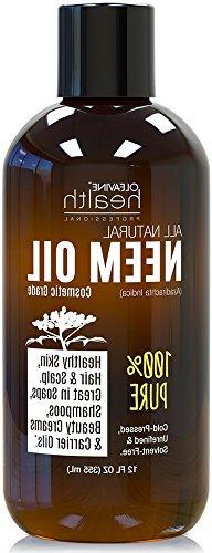 Neem Oil Organic & Wild Crafted Pure Cold Pressed Unrefined