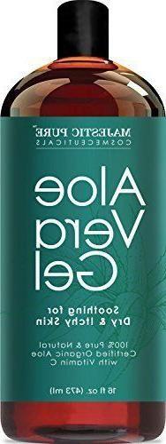 Majestic Pure Aloe Vera Gel 100% Pure & Natural Organic Cold