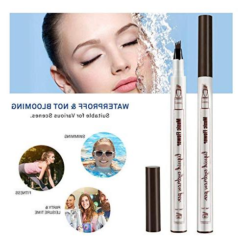 AsaVea Eyebrow Pen Waterproof Ink Gel Tint with Long Lasting Smudge-Proof Defined All