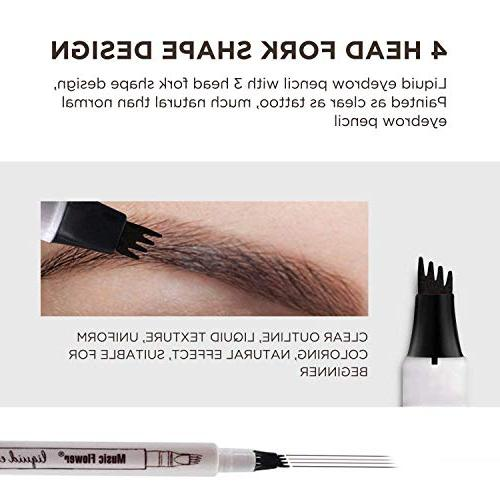 AsaVea Tattoo Waterproof Ink with Four Long Lasting Smudge-Proof Natural Defined Browns