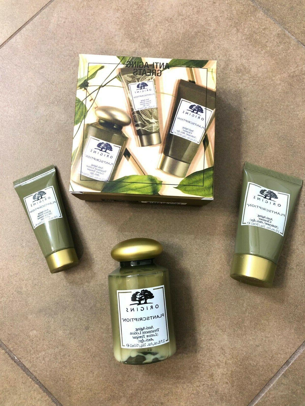 anti aging set plantscription cleanser power serum