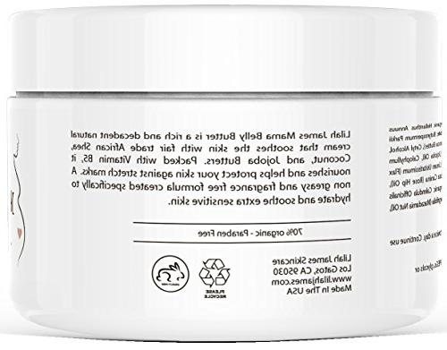 Belly Butter 8oz- Free, Cream Helps Prevent Relieves Itching, And Skin During Pregnancy