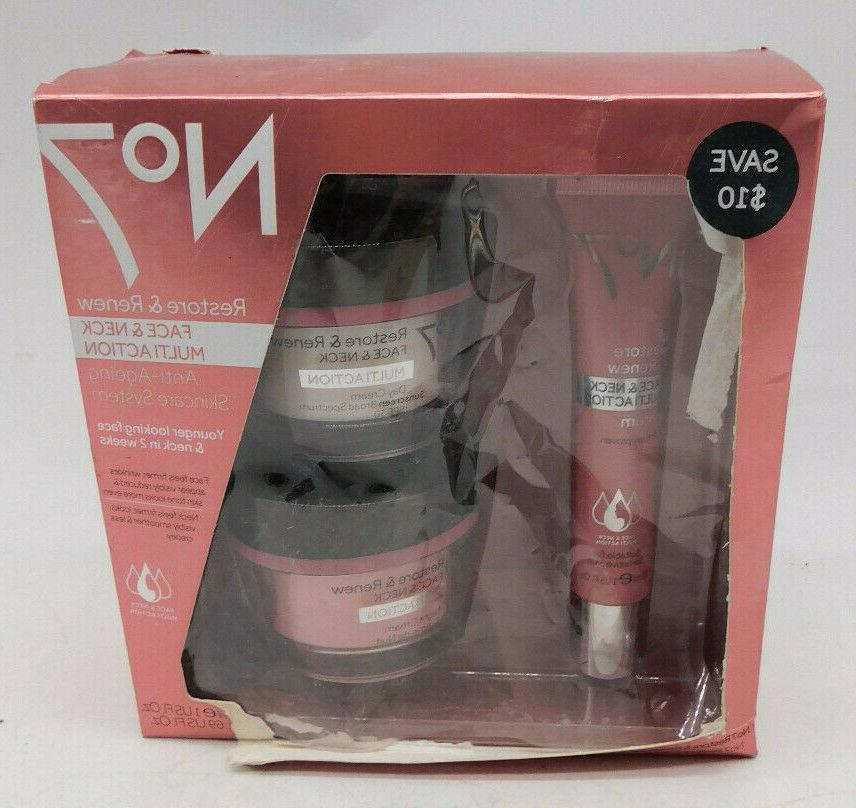 BOOTS No. 7 Restore and Renew Anti-Ageing Skincare System Se