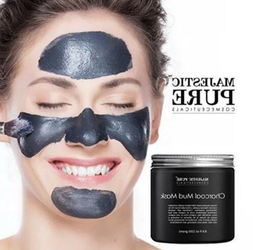 Majestic Charcoal Mud Mask Coconut Face