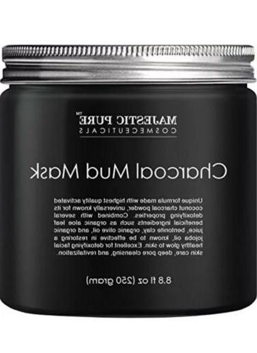 charcoal mud mask coconut face mask