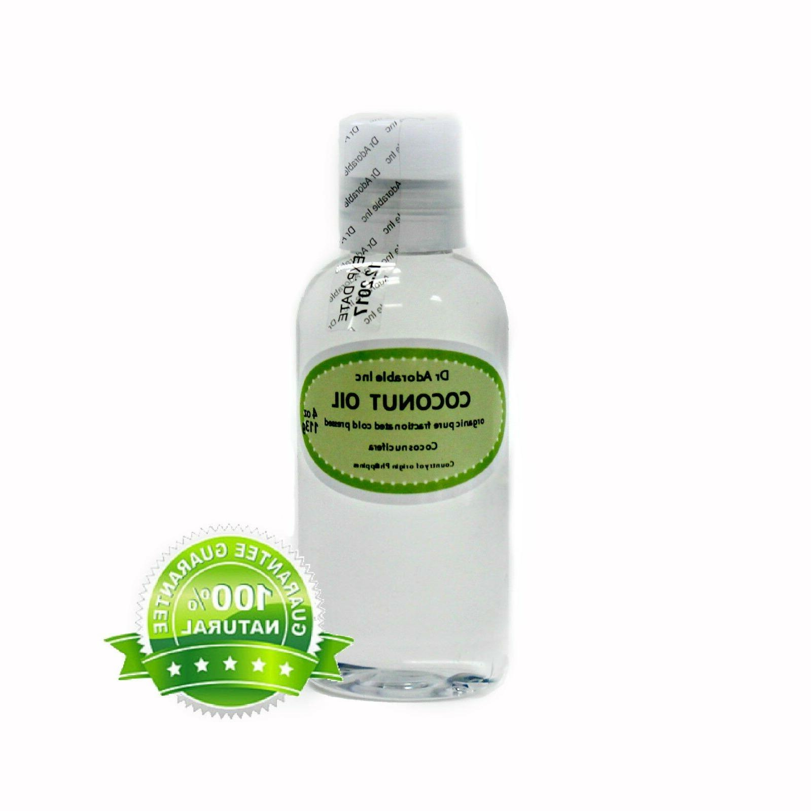 Coconut Fractionated Oil 100 % Pure Skin Care Comes with a S