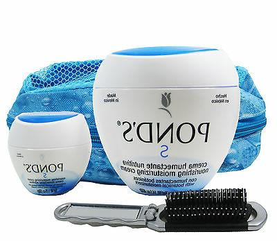 Pond's Crema Moisturizing Travel Bag + Hairbrush