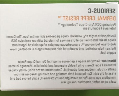 Serious Skin Care CREPE Intensive FACIAL Cream NEW in
