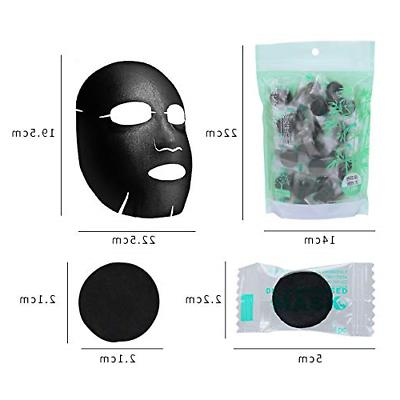 NYKKOLA Disposable Facial DIY Natural Charcoal Compressed