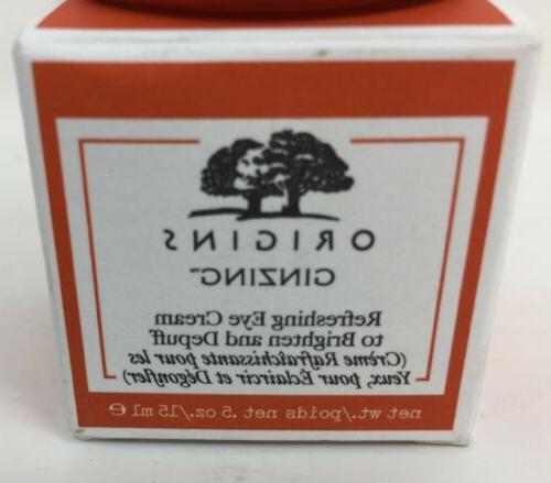 Origins GinZing Refreshing Cream 0.5 Oz mL To Depuff,