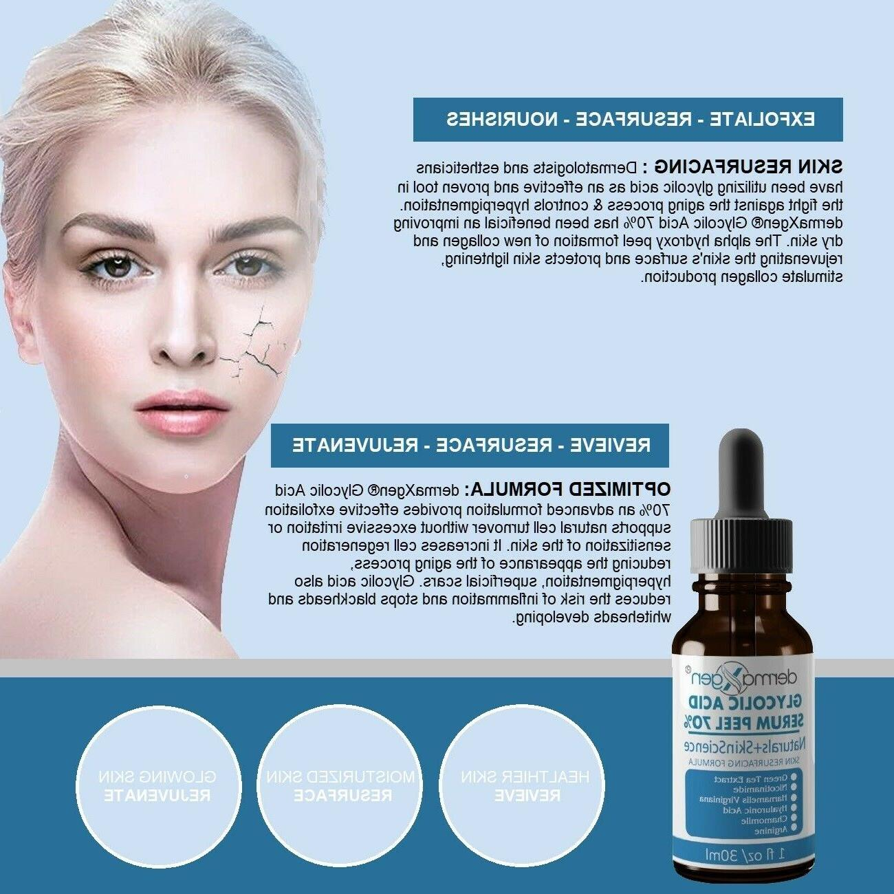 Glycolic Acid AHA+ Pure ORGANIC Hyaluronic+Chamomile RESURFACING