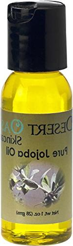 Pure Golden Jojoba Oil Travel Size, 1 oz , Cold Pressed, Not
