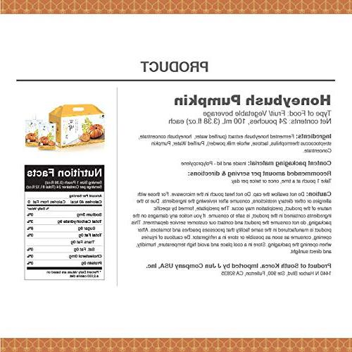 InnerSet Pumpkin Nutricosmetic Beauty ml x - Patented Formulation/Made in Korea/Ships from