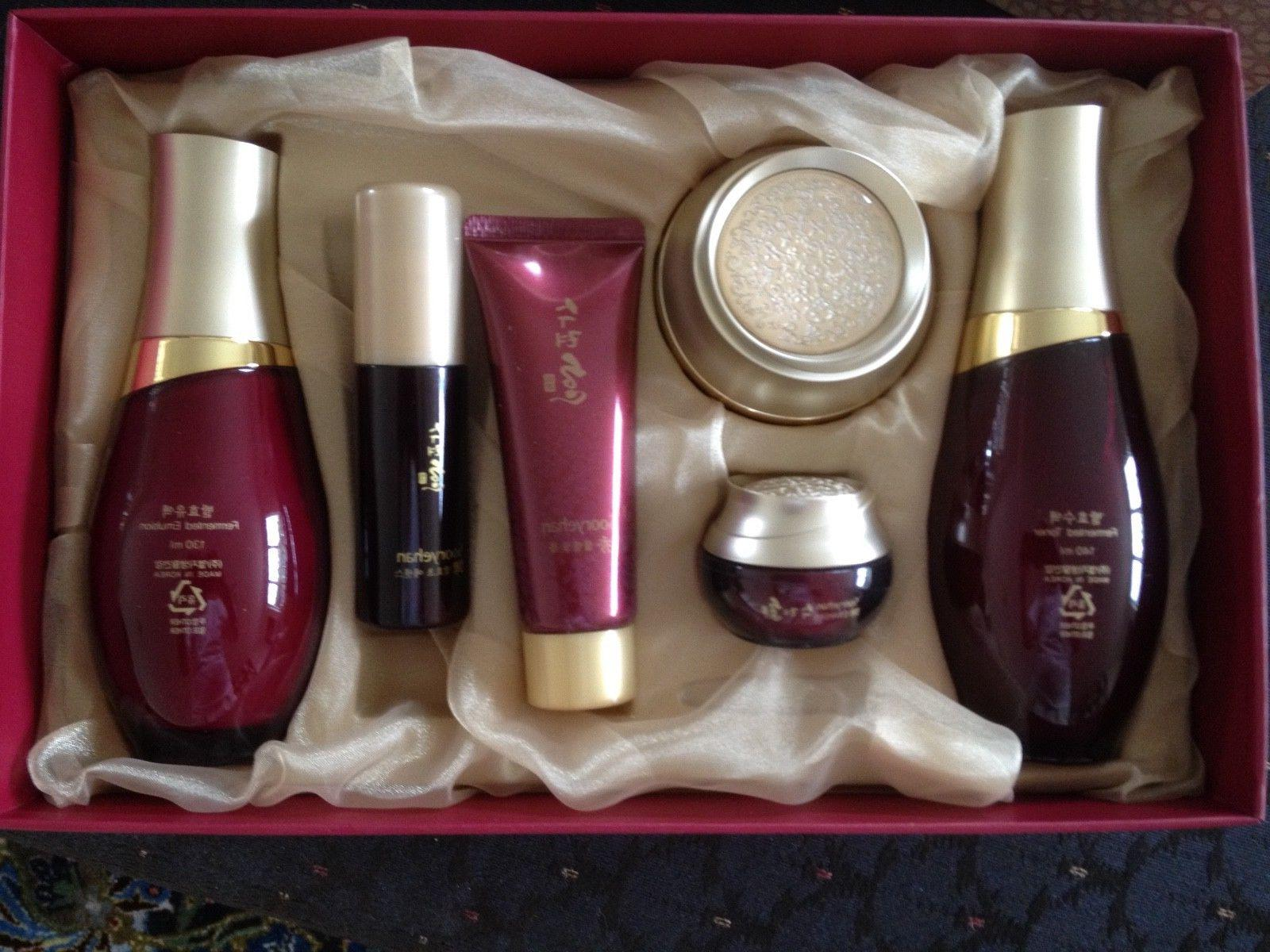 Sooryehan Hyo Korean Red Ginseng Skin Care Set of 6 Gift Box