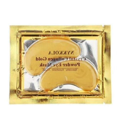 multipairs gold eye mask powder crystal gel