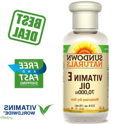 Sundown Naturals Vitamin E Oil 70,000 IU, 2.50 Ounce Bottle