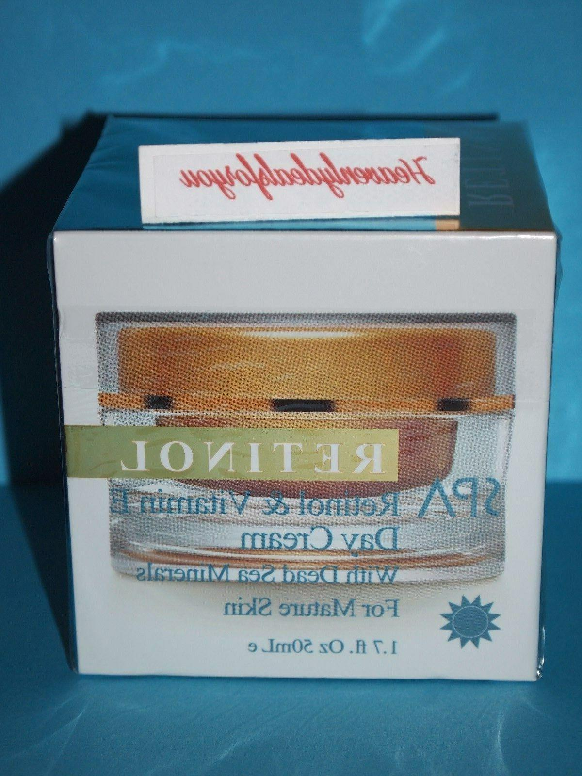 NIB Spa Cosmetics Spa Retinol & Vitamin E Day Cream w/Dead S