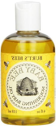 Burt's Bees Baby Bee Nourishing Baby Oil, 4 Fluid Ounce Bott