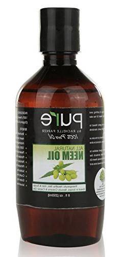 Organic Neem Oil Organic & Wild Crafted Pure Cold Pressed Un