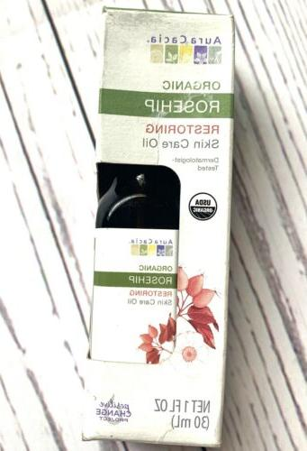 Aura Cacia Organic Rosehip Oil 1 Oz Skin