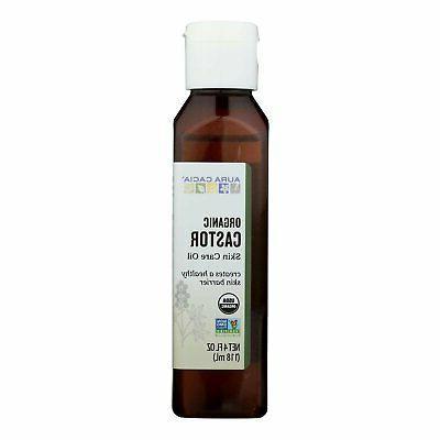 Aura Cacia Organic Skin Care Oil, Castor, 4 Fluid Ounce