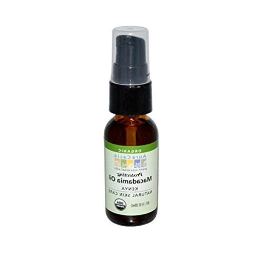Aura Cacia Organic Natural Skin Care, Protecting Macadamia O