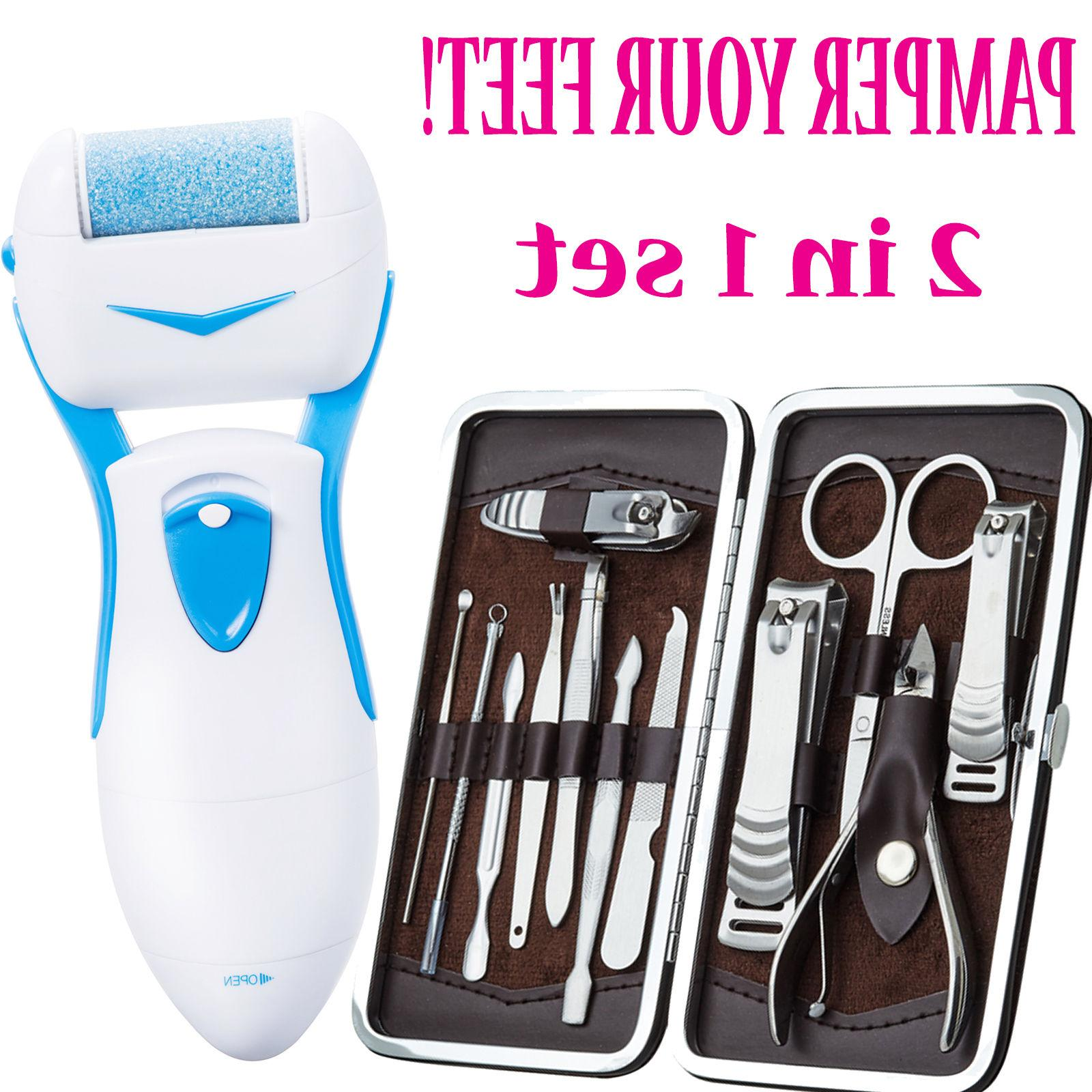 pro pedicure pedi kit electronic foot file