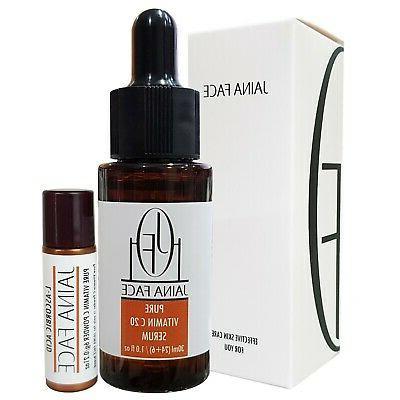 Pure Vitamin C 20% Serum Hyaluronic Acid 70% Anti Wrinkle Ac