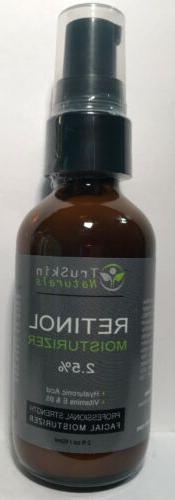 TruSkin Naturals Retinol Moisturizer 2.5%, Hyaluronic Acid V