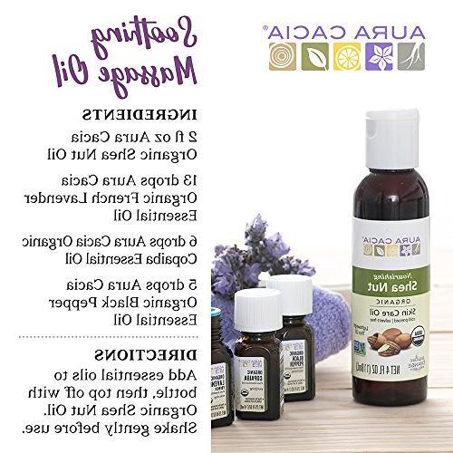 Aura Cacia Shea Oil Organic, 4 Ounce