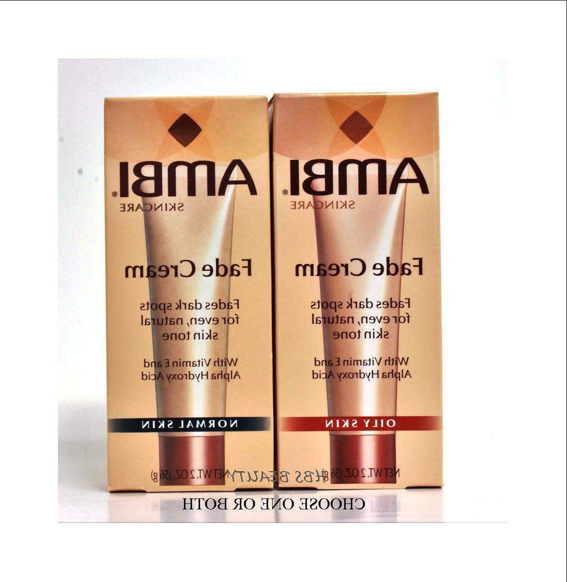 AMBI Skincare Fade Cream NORMAL OR OILY SKIN 2oz