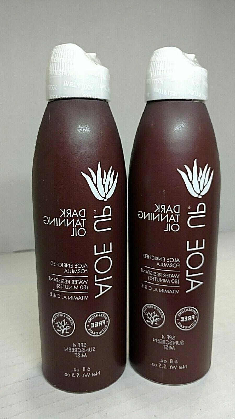 Aloe Up Sun & Skin Care Products Unisex SPF 4 Dark Tanning O