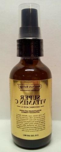 New York Biology Super Vitamin C Serum Ascorbic Acid Age Spo