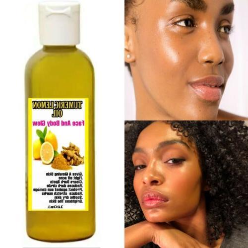 tumeric lemon oil skin glow dark patches