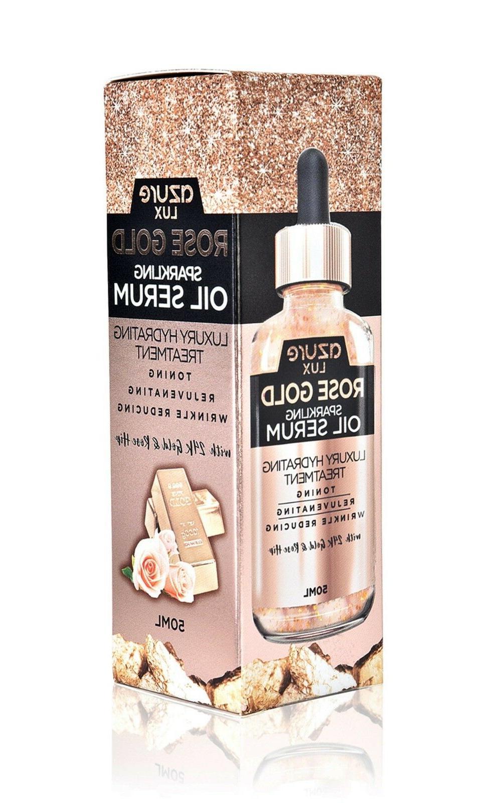 Azure Luxury Rose Gold Sparkling Oil Serum Hydrating Anti-Ag