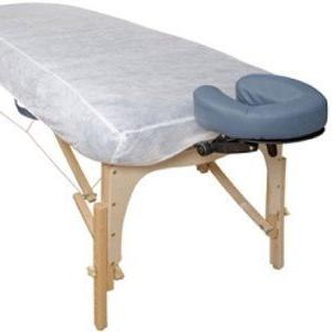 white disposable elastic fitted bed
