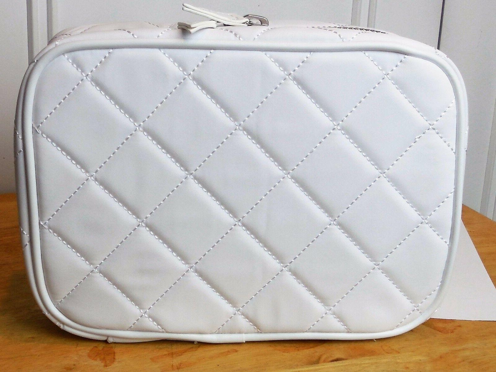 white fabric large skincare organizer new