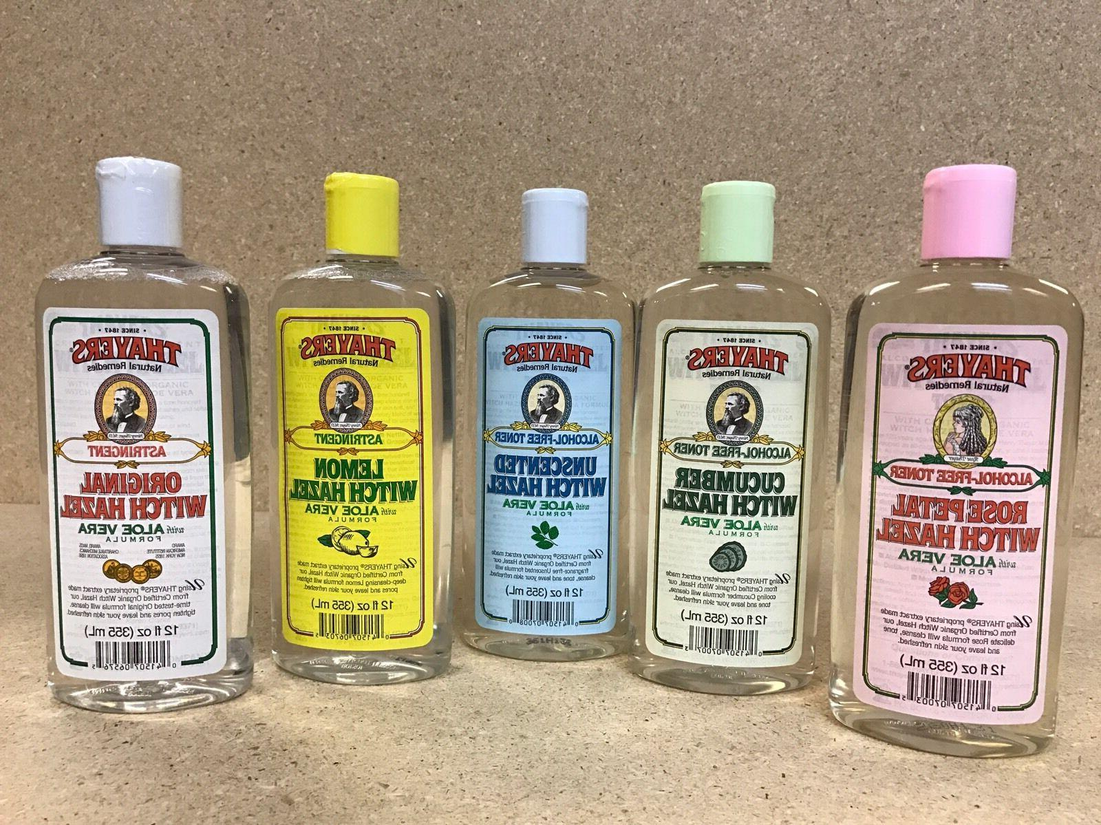 THAYERS Witch Hazel w/Aloe Vera Astringent or Alcohol Free,