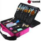 Hotrose Women Professional Makeup Organizer Kit Pink Cosmeti