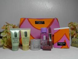 CLINIQUE marimekko 7PC: Skincare Makeup Cosmetic Bag Gift Se