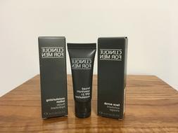 Clinique for Men Travel Gift Set Face Scrub Broad Spectrum M