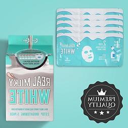 LOVLUV Real Milky White Face Masks, K Beauty Moisturizing an