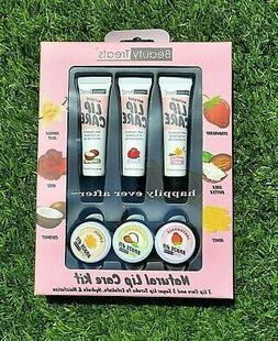 Beauty Treats Natural Lip care set! 3 Lip Cares + 3 Sugar Li