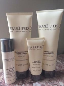 *NEW* 4 PCS Crepe Erase Face & Body Set- Lotion/ Polish/ Fac