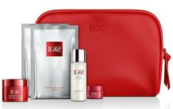 NEW SK-II PITERA RADIANCE  6pc gift set with large red cosme