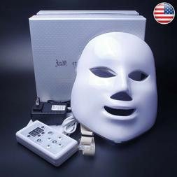 New Therapy Photon LED Face Facial Mask 7 Colors Light Skin